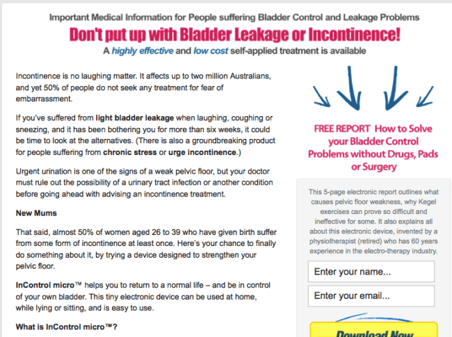 How to Solve Bladder Problems - Report