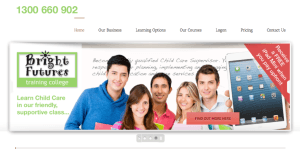 childcare website page