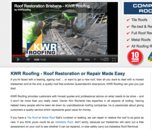 Website Copywriting for Roofing company