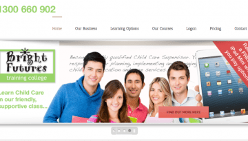 childcare website copy