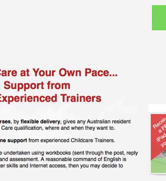 childcare copywriting sample