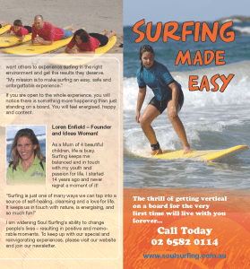 brochure copy for surf school