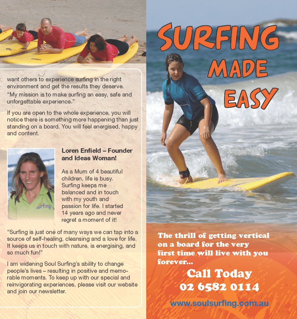 Brochure for Soul Surfing