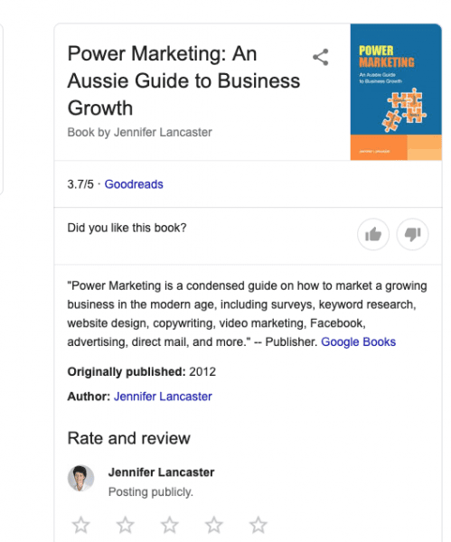 knowledge graph example - book