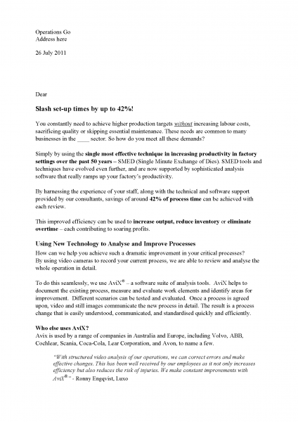 sales letter copywriting for consultant