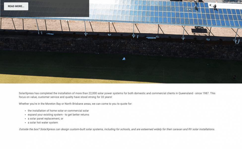 solar panels copy writing example