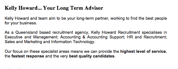 Recruitment Agency Web Copy