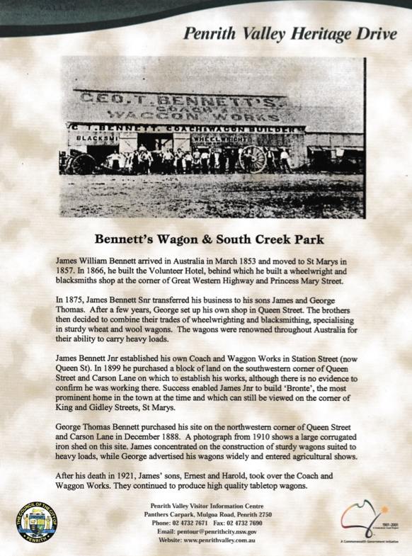 Penrith Heritage Drive_Bennetts